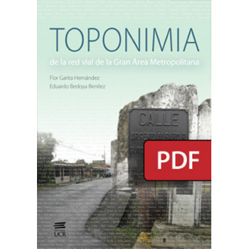 Toponymy of the road network of the Greater Metropolitan Area (PDF digital book)