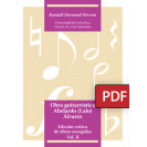 Guitar work Abelardo (Lalo) Álvarez. Critical edition of selected works. Vol II (PDF digital book)